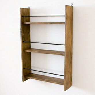 Wall spice rack wall shelf wall hangings storing wall surface storing wall hangings shelf kitchen rack seasoning rack kitchen shelf display rack shelf display case wooden Wood country antique North Europe cafe nostalgic finished product wall spice rack i