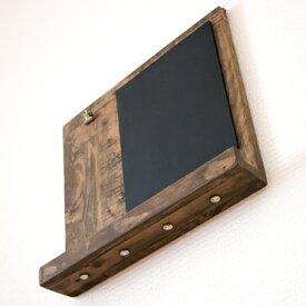 黒板エントランスボード 黒板 ブラックボード 壁掛け キーフック 黒板ボード メッセージボード 鍵掛け 鍵掛 ディスプレイボード チョークボード クリップ 木製 収納 ウッド アイアン カントリー アンティーク 北欧 カフェ レトロ 完成品 黒板エントランスボード
