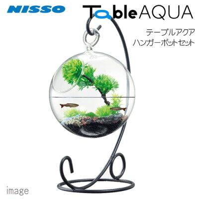 ニッソーテーブルアクアハンガーポットセットNWS-875【小型インテリア水槽ミニ水槽】【初心者セット】【飼育セット】【新着】