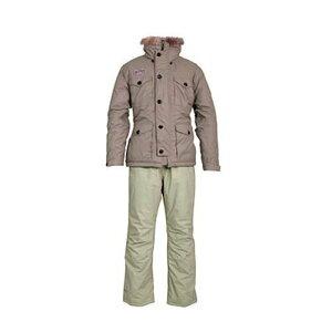 在有即配宅配便 リバレイ RLボンドウォームスーツ 3Lサイズ ベージュ #6319 防寒防水スーツ 透湿