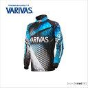 バリバス(VARIVAS) ドライジップアップシャツ(長袖) ブルー M VAZS-21