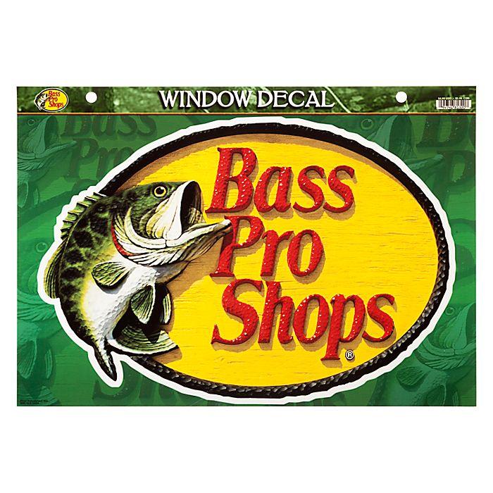【バス プロ ショップス】 ウインドウ デカル - ラージ / Die-Cut Vinyl Window Decal – Bass Pro Shops - Large