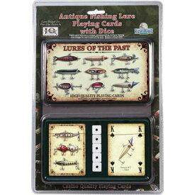 【リバースエッジ】 トランプ & ダイス ブリキのケース入り / Fish Lure Cards & Dice Tin