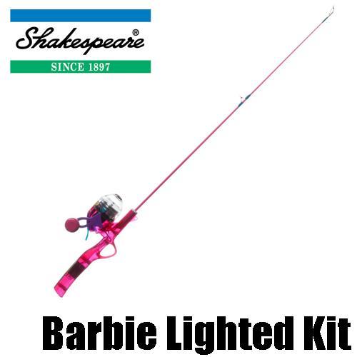 【シェークスピア】 ライティング コンボセット バービー / Disney Barbie Lighted Rod and Reel Combo