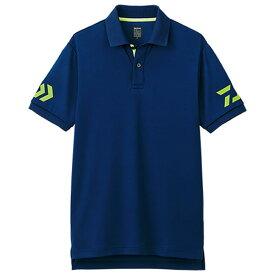 ダイワ 半袖ポロシャツ DE-7906 ネイビー×サルファースプリング (シャツ・Tシャツ)