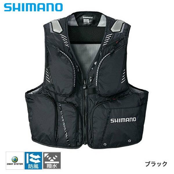 シマノ 2WAYベストXT ブラック VE-022Q (鮎ベスト)