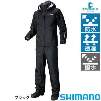 シマノ DSベーシックスーツ RA-027Q ブラック S〜XL (レインウエア レインスーツ)