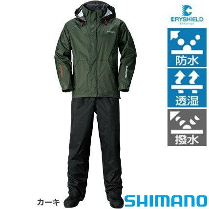 シマノ DSベーシックスーツ RA-027Q カーキ M〜XL (レインウエア レインスーツ)