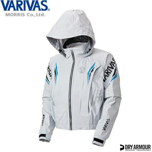 バリバス ドライアーマー レインスーツ VARS-10 グレー 3L (鮎 レインウェア)