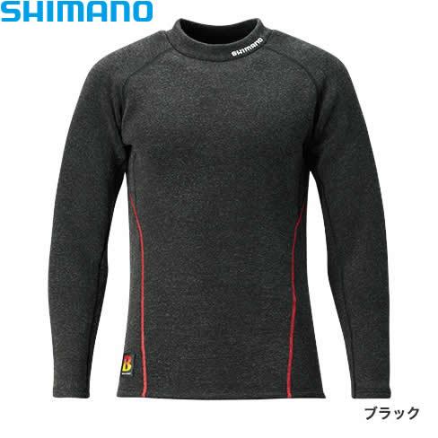 シマノ ブレスハイパー+℃ ストレッチハイネック アンダーシャツ (極厚タイプ) IN-021Q ブラック XS〜XL (保温肌着)
