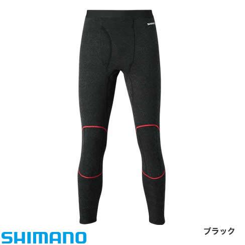 シマノ ブレスハイパー+℃ストレッチアンダータイツ (極厚タイプ) IN-025Q ブラック XS〜XL (保温肌着 防寒着)