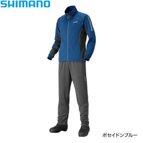 シマノ ライトスーツ ポセイドンブルー MD-066Q M〜XL (防寒着)