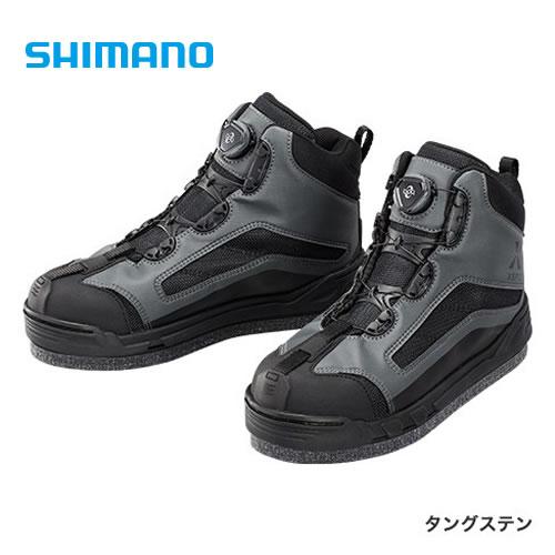 シマノ XEFO ドライシールド ジオロック カットラバーピンフェルト シューズ FS-256Q タングステン (フィッシングシューズ)