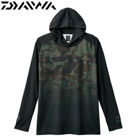 ダイワ フーディー メッシュシャツ DE-34008 グリーンカモ (フィッシングウェア)