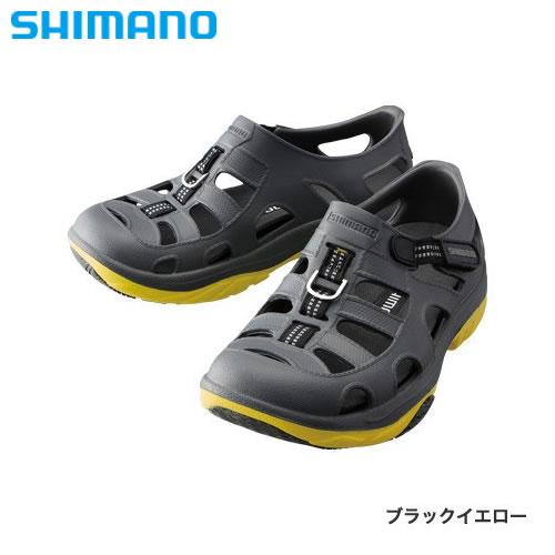 シマノ イヴェアー マリンフィッシングシューズ FS-091I ブラックイエロー (フィッシングシューズ サンダル)