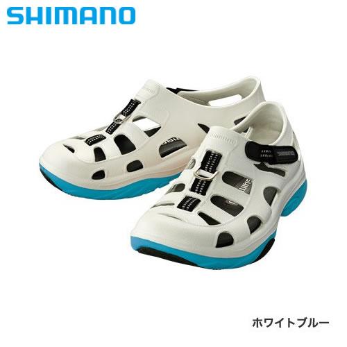シマノ イヴェアー マリンフィッシングシューズ FS-091I ホワイトブルー (フィッシングシューズ サンダル)