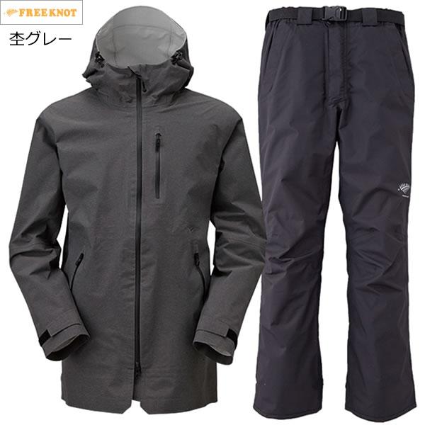ハヤブサ NITENGO(ニーテンゴ) アーバンレインスーツ Y6215 94.杢グレー 4L (レインウェア レインスーツ)