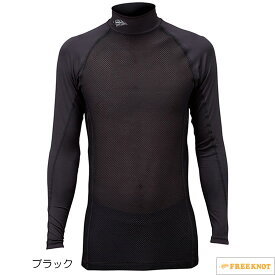 ハヤブサ SUNSHADE(サンシェード) レイヤードアンダーシャツ Y1635 90.ブラック M~LL (冷感肌着)