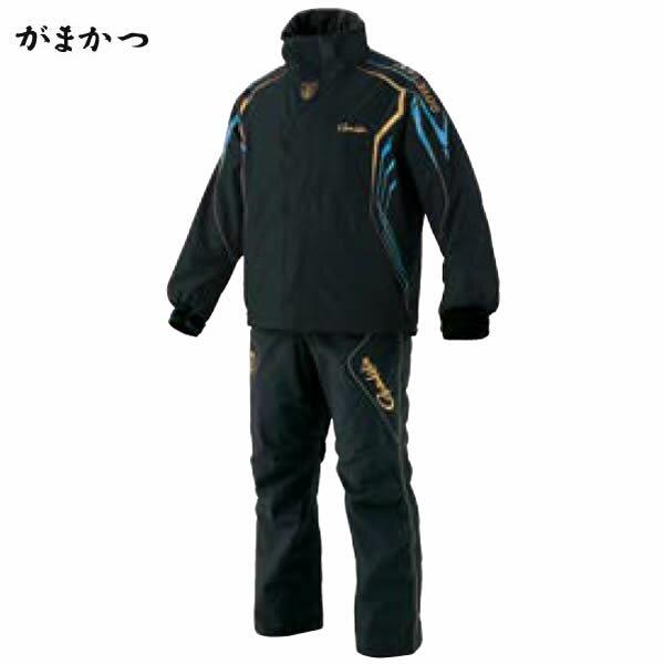 がまかつ ゴアテックスレインスーツ ブラック×ブルー GM-3500(レインウェア)