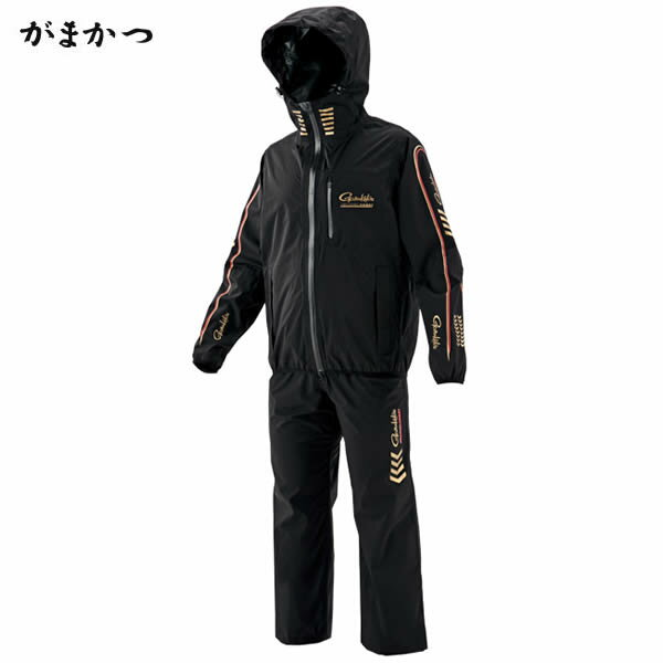 がまかつ ライトレインスーツ ブラック GM-3514 (レインウェア)