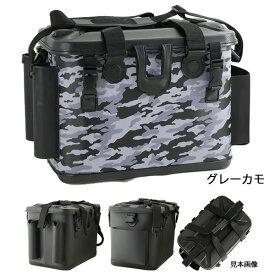 EVAタックルバック (ロッドスタンド付) BK-2115 40cm グレーカモ (タックルバッカン) (釣り具)
