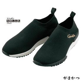 がまかつ アクアバウンス スリッポン ブラック GM-4524 (フィッシングシューズ マリンシューズ)
