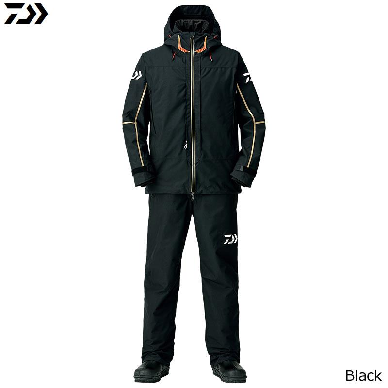 ダイワ ゴアテックス プロダクト コンビアップ ウィンタースーツ ブラック DW-1808 M〜XL (防寒着 防寒ウエア 防水防寒上下セット)