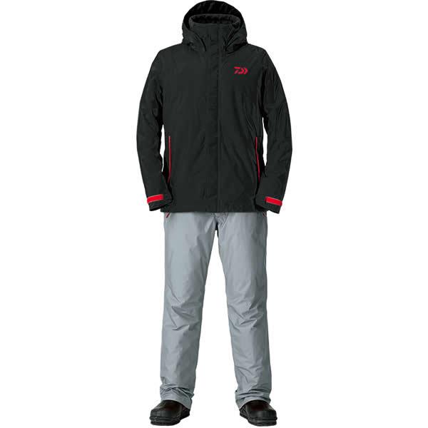 ダイワ レインマックス ウインタースーツ ブラック DW-35008 S〜XL (防寒着 防寒ウエア 防水防寒上下セット)