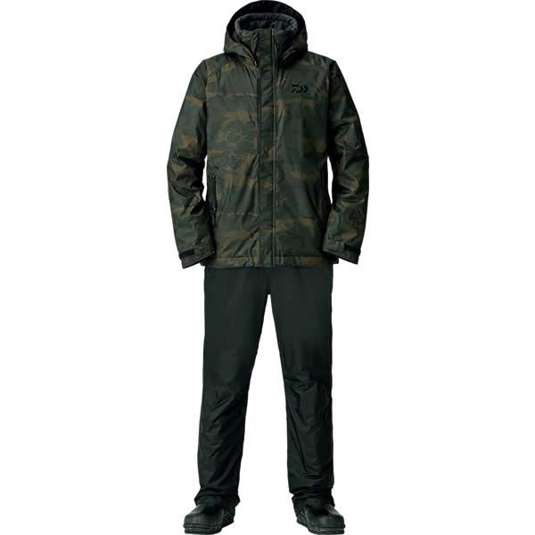 ダイワ レインマックス ウインタースーツ グリーンカモ DW-35008 S〜XL (防寒着 防寒ウエア 防水防寒上下セット)