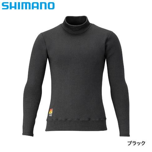 シマノ ブレスハイパー+℃ ストレッチハイネックアンダーシャツ(超極厚) ブラック IN-031R (防寒肌着 防寒ウエア)