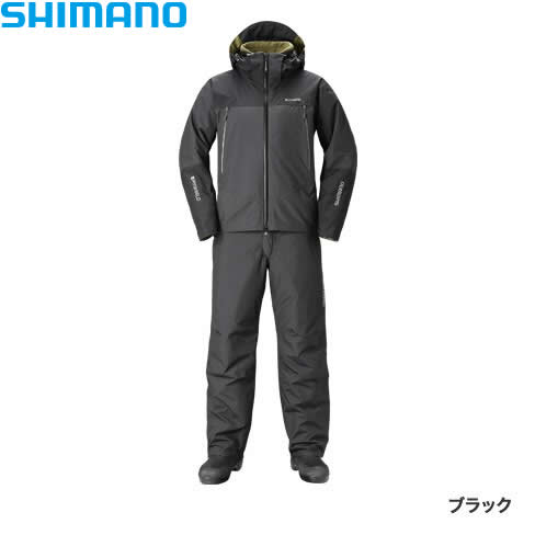 シマノ DSアドバンスウォームスーツ ブラック RB-025R S〜XL (防寒着 防寒ウエア 防水防寒上下セット)