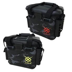 EVAライトゲームバッグ AEK532 ロッドスタンド付 ブラックカモフラ 33cm (EVAバッグ タックルバッカン 釣り具)