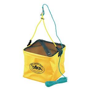タカ産業 メッシュ角型水汲ロープ付 24cm 204-角 (水汲みバケツ) 《色指定不可》