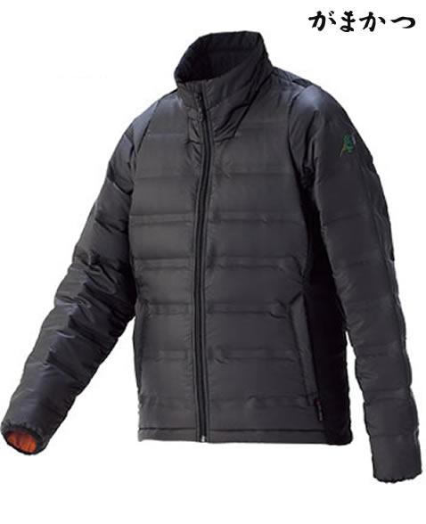 がまかつ シームレスファインダウンジャケット ブラック GM-3516 (防寒着 防寒ミドラー)