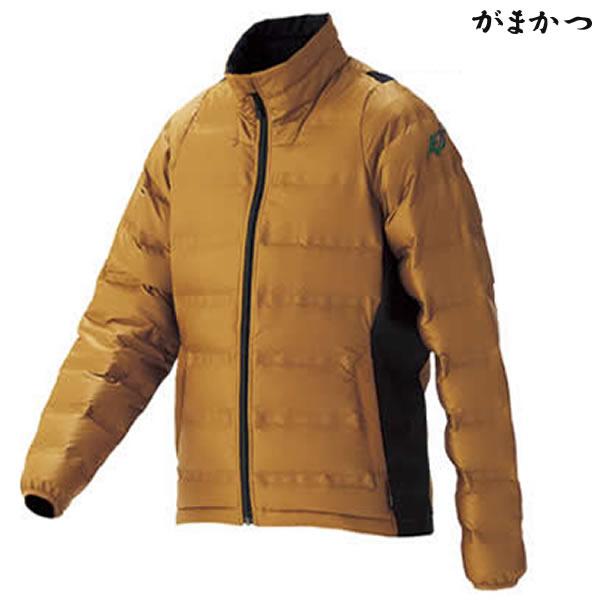 がまかつ シームレスファインダウンジャケット キャメル GM-3516 (防寒着 防寒ミドラー)