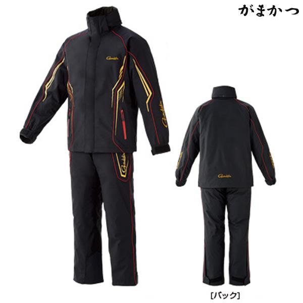 がまかつ オールウェザースーツ ブラック×ゴールド GM-3525 (防寒着 防寒ウェア)