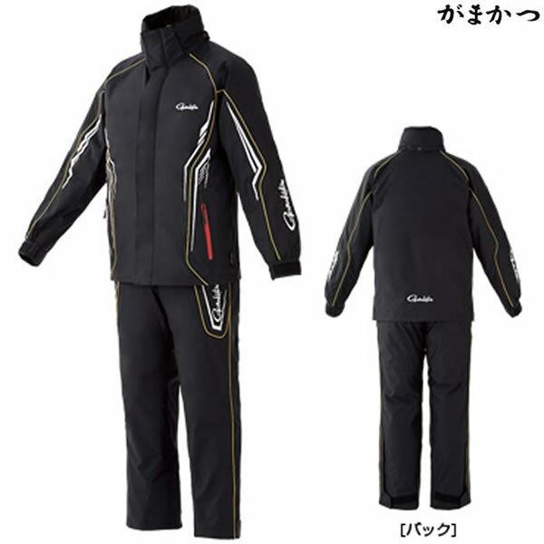 がまかつ オールウェザースーツ ブラック×ホワイト GM-3525 (防寒着 防寒ウェア)