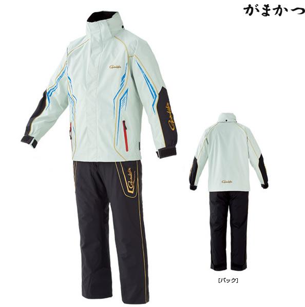 がまかつ オールウェザースーツ ライトグレー×ブラック GM-3525 (防寒着 防寒ウェア)