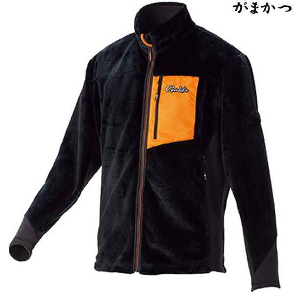 がまかつ ボアフリースジャケット ブラック GM-3526 (防寒着 防寒ミドラー)
