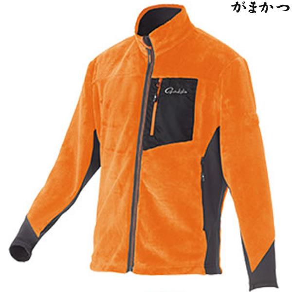 がまかつ ボアフリースジャケット オレンジ GM-3526 (防寒着 防寒ミドラー)