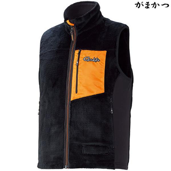 がまかつ ボアフリースベスト ブラック GM-3527 (防寒着 防寒ミドラー)
