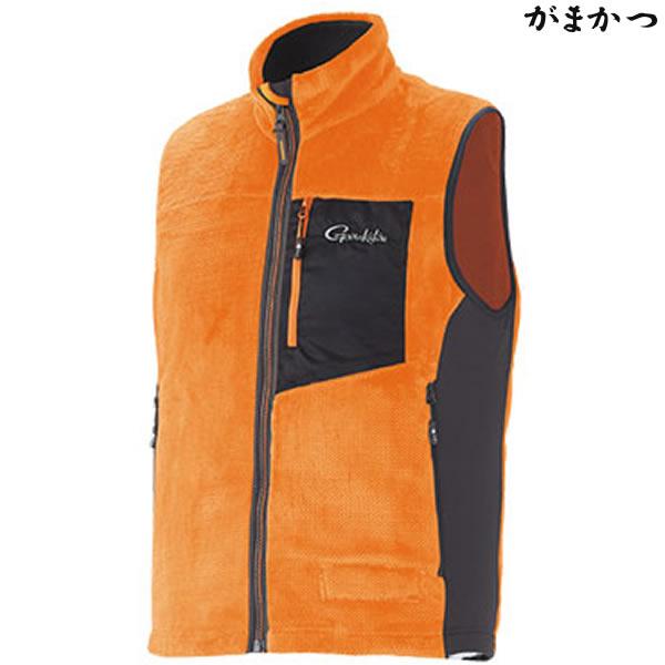 がまかつ ボアフリースベスト オレンジ GM-3527 (防寒着 防寒ミドラー)