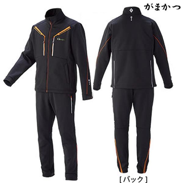 がまかつ ソフトシェルスーツ ブラック GM-3528 (防寒着 防寒ミドラー)