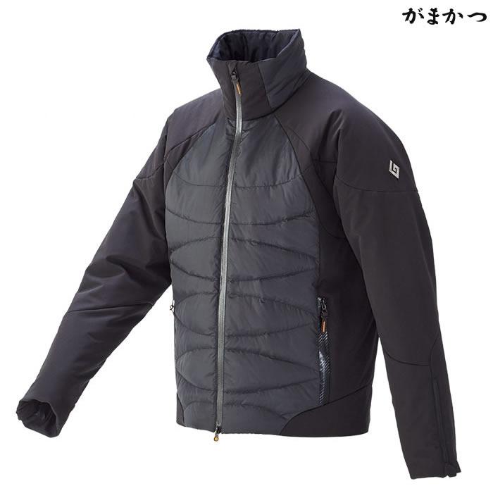 がまかつ ダウンジャケット ブラック×オレンジ GM-3532 (防寒着 防寒ミドラー)