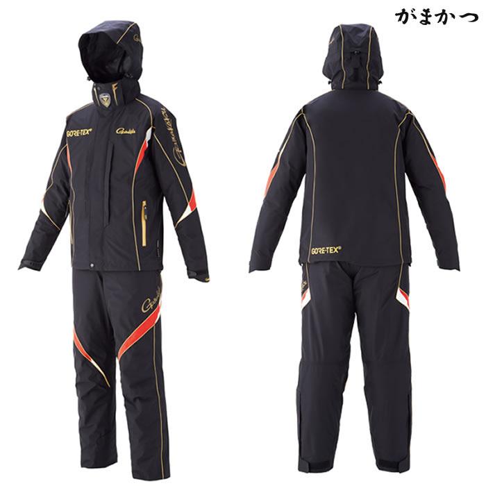 がまかつ ゴアテックス(R) オールウェザースーツ ブラック GM-3537 (防寒着 防寒ウェア)