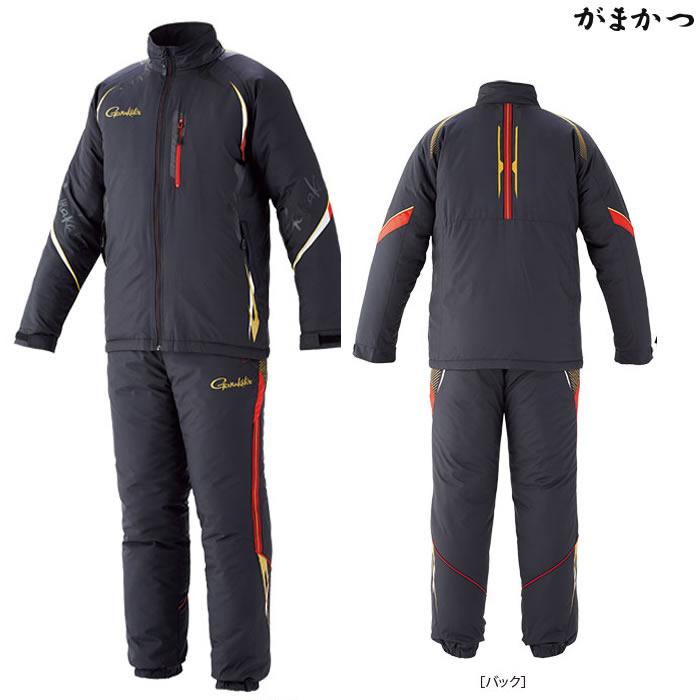 がまかつ トレーニングウォームスーツ ブラック GM-3539 (防寒着 防寒ミドラー)