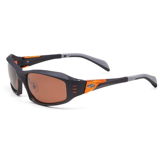 ストームライダー SR-009-P スポーツカーブタイプ2 #4 (サングラス 偏光グラス) Mブラック×オレンジメタル/クリムソンピンク