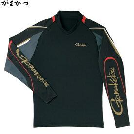がまかつ ストレッチロングスリーブシャツ ブラック GM-3542 (フィッシングシャツ)