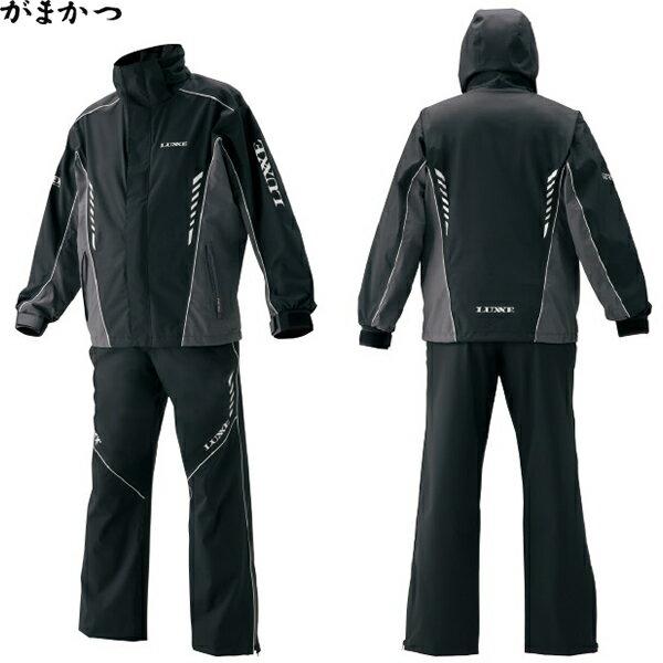 がまかつ ゴアテックス(R) レインスーツ (ライト) ブラック×ラグゼ LE-3546 (レインウェア)