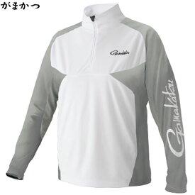がまかつ NO FLY ZONE(R) ジップシャツ ホワイト GM-3550 (フィッシングシャツ)